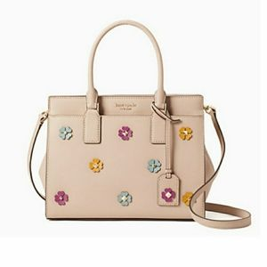 Kate Spade Flower Applique Medium Satchel